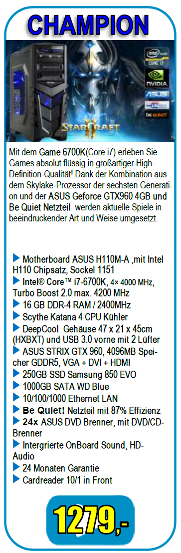 ComWeb.de Gamer INTEL Angebot