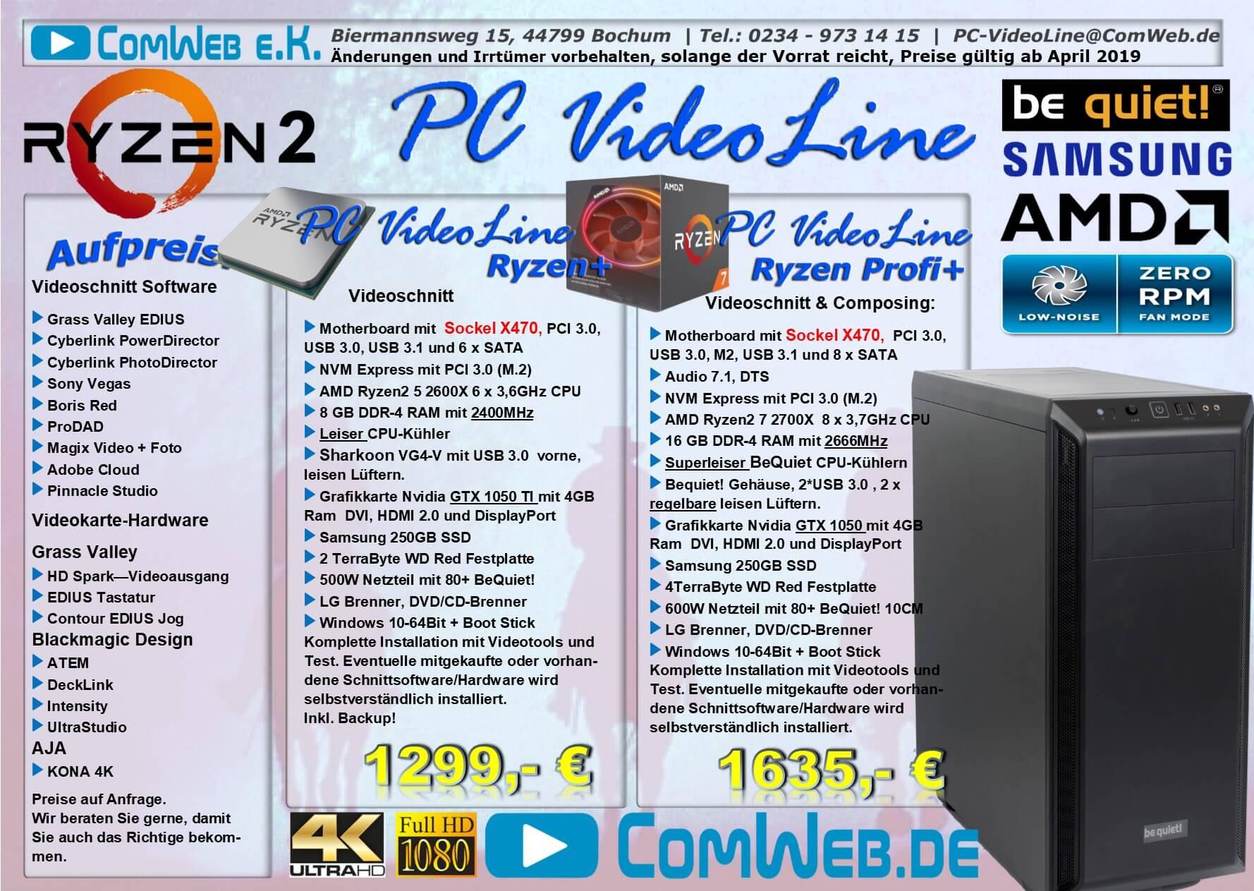 ComWeb PC-VideoLine AMD Ryzen+