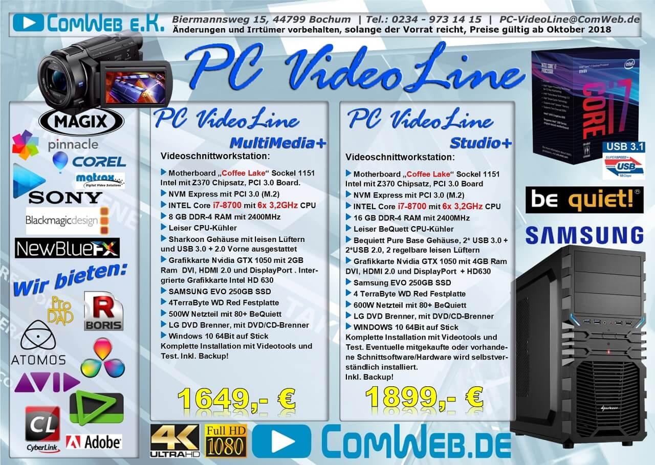 PC-VideoLine Workstation Multimedia + Studio