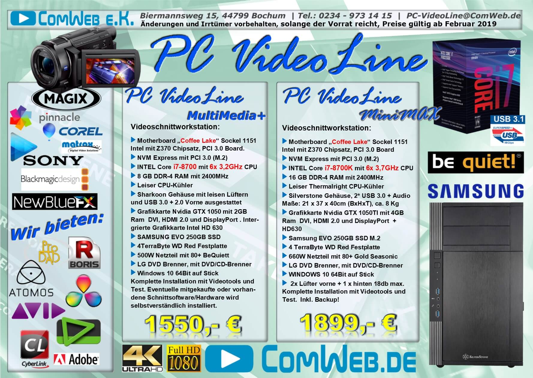 PC-VideoLine Workstation Multimedia + Studio