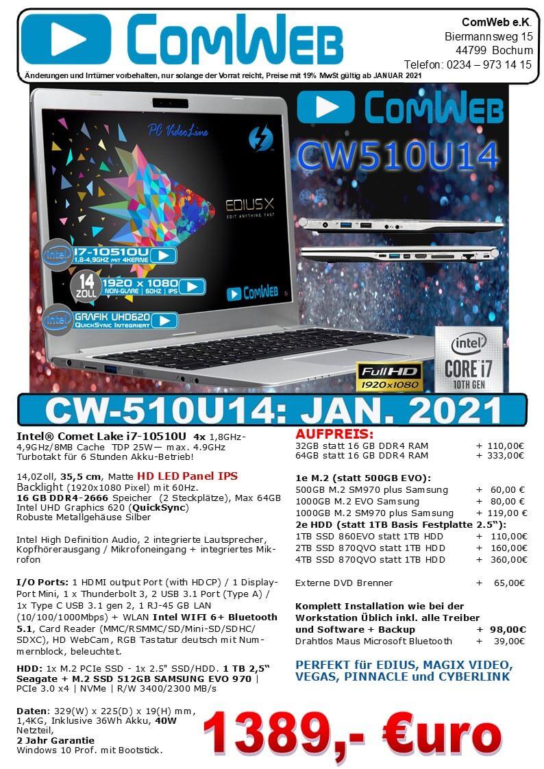 ComWeb Notebook CW-510U14