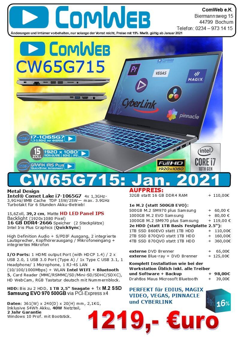 ComWeb Notebook CW-65G715