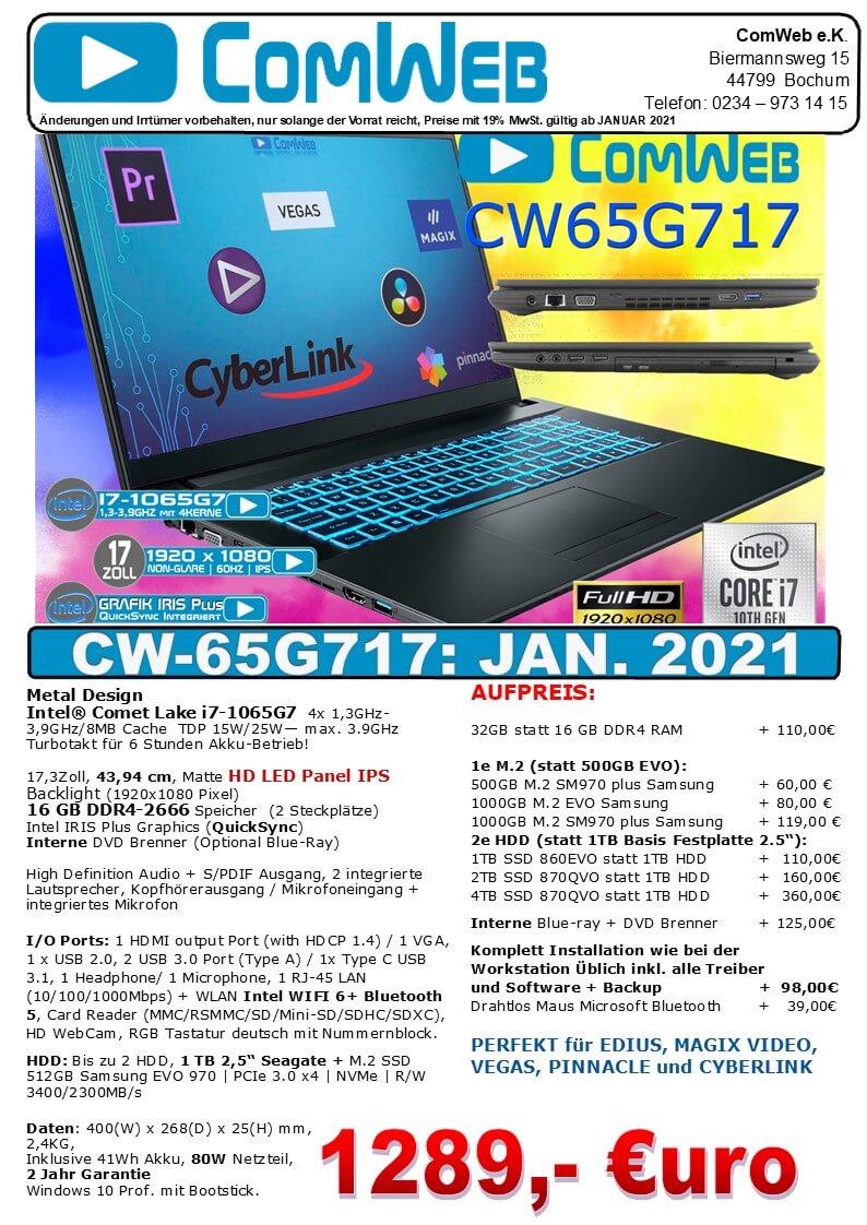 ComWeb Notebook CW-65G717