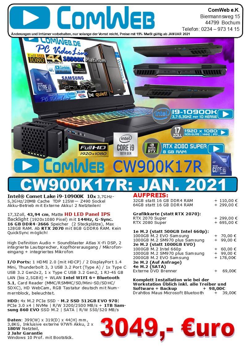 ComWeb Notebook CW-900K17R