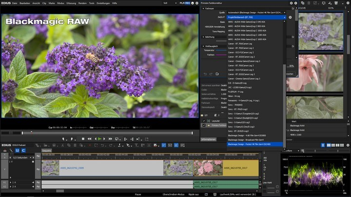 Blackmagic RAW in EDIUS kein Problem