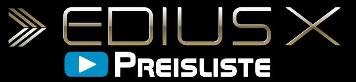 EDIUS X Preisliste