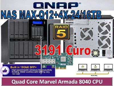 NAS MAX-Q12+4X-24TB