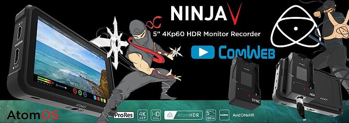 ATOMOS Ninja V - 4K 10bit Recorder - HDR Monitor -