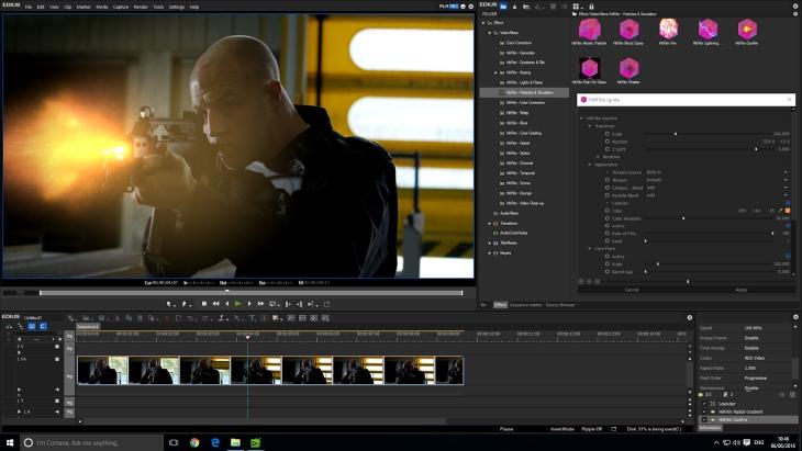 HitFilm Ignite in EDIUS 8 - Mündungsfeuer emulation