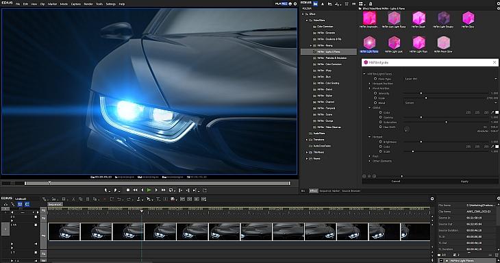 HitFilm Ignite in EDIUS 8 - Lensflair