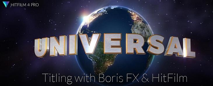 FXHome HitFilm 4 Pro - Text mit Boris FX 3D
